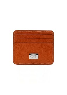 Tod's orange leather card holder