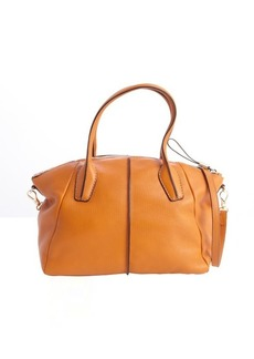 Tod's orange leather 'D. D.' medium bowler bag