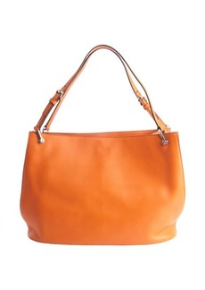 Tod's orange leather shoulder bag