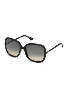 Tod's Oversized Square Gradient Plastic Sunglasses