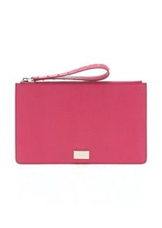 Tod's peony leather wristlet clutch