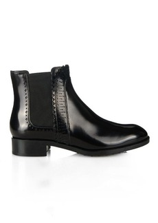 Tod's Perforated leather chelsea boots