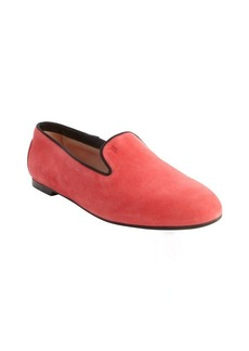 Tod's pink and black suede trimmed loafers