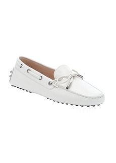 Tod's porcelain leather lace-up driving loafers
