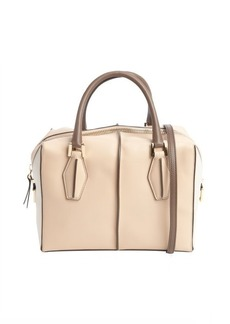 Tod's powder and cream colorblock leather convertible bag