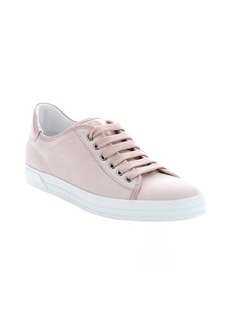 Tod's powder leather trimmed nubuck lace-up sneakers