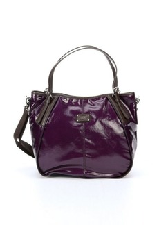 Tod's purple coated twill 'New G' small convertible tote