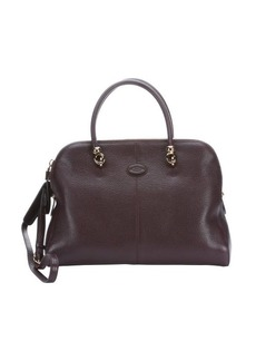 Tod's purple grained calfskin convertible tote bag