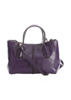 Tod's purple leather 'D-Styling' small convertible tote bag