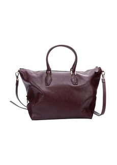 Tod's raspberry leather large convertible tote bag