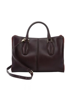 Tod's raspberry leather multi-compartment convertible tote
