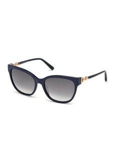 Tod's Rectangle Gradient Plastic Sunglasses