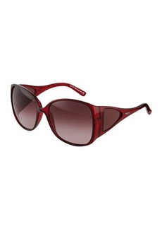 Tod's Red Injected Butterfly Sunglasses  Red Injected Butterfly Sunglasses
