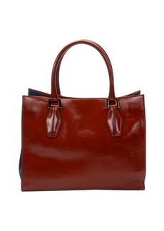 Tod's red leather 'D-Cube' shopper tote