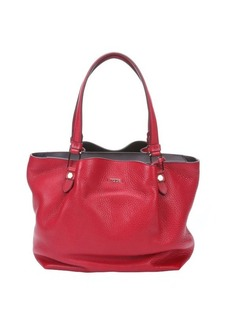 Tod's red leather medium 'Flower' bag