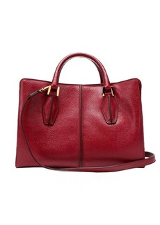 Tod's red leather mini top handle bag