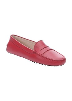 Tod's red leather penny loafer moccasins