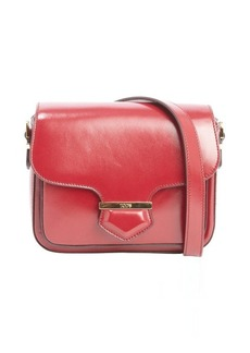 Tod's red leather small crossbody bag