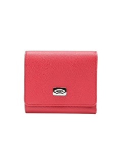 Tod's red leather tri-fold wallet