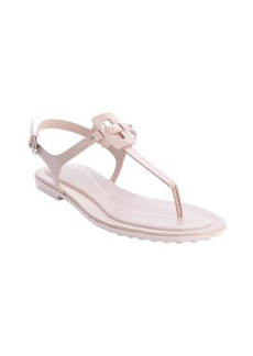 Tod's rose leather anklestrap sandals