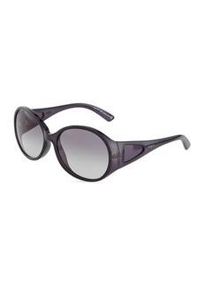 Tod's Round Acetate Oversize Sunglasses