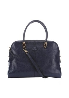 Tod's royal blue leather convertible top handle bag