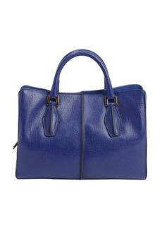 Tod's royal navy leather mini top handle bag