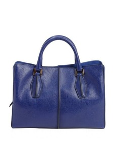 Tod's royal navy leather mini top handle bag