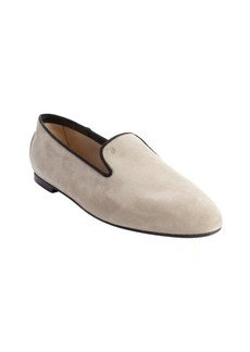 Tod's sand suede slip on loafers