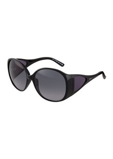 Tod's Shiny Black Injected Butterfly Sunglasses  Shiny Black Injected Butterfly Sunglasses
