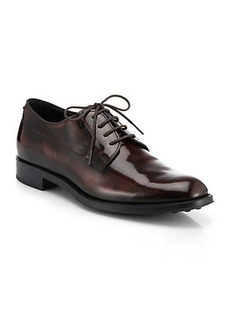 Tod's Shiny Leather Lace-Up Oxfords