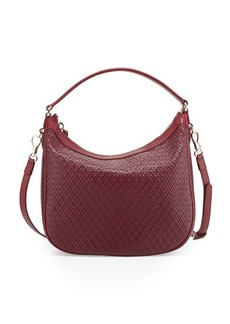 Tod's Signature Embossed Leather Hobo Bag