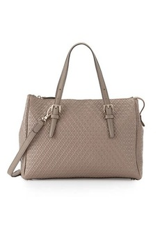 Tod's Signature Embossed Leather Satchel Bag