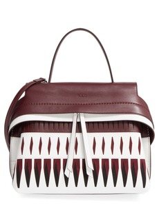Tod's 'Small Wave' Laser Cut Leather Satchel