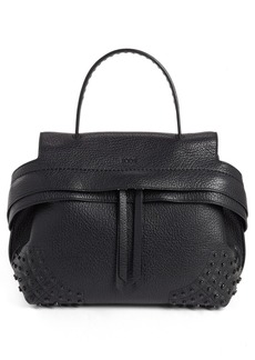 Tod's 'Small Wave' Studded Leather Satchel