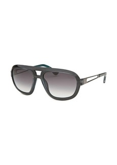 Tod's Square Dark Grey Sunglasses