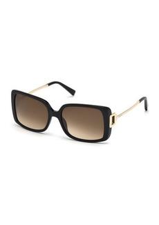 Tod's Square Plastic/Metal Sunglasses