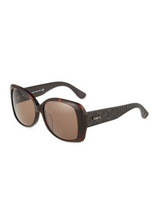 Tod's Square Quilted Plastic Sunglasses