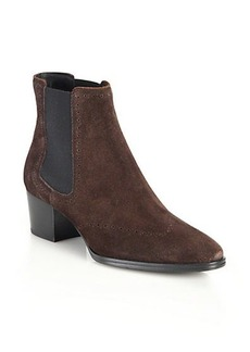 Tod's Suede Perforated Chelsea Boots