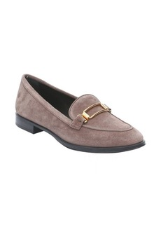 Tod's taupe suede 'Classico' buckle detail loafers