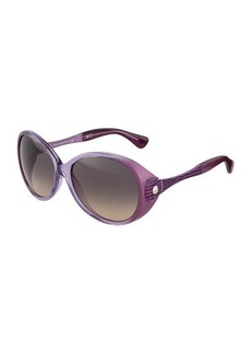 Tod's Violet Injected Round Sunglasses