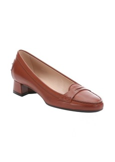 Tod's whiskey leather penny strap slip-on loafers