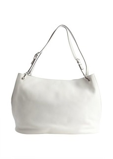 Tod's white calfskin large 'Horse' shopping tote