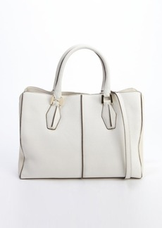 Tod's white leather 'D-Cube Medium Shopping' bag