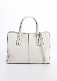 Tod's white leather 'D-Cube Medium Shopping' bag