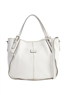 Tod's white leather logo stamp convertible shoulder bag