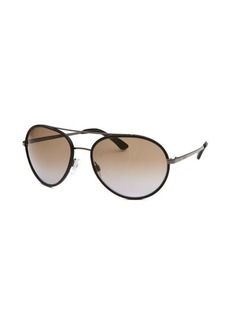 Tod's Women's Aviator Black Sunglasses