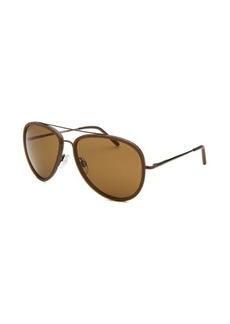 Tod's Women's Aviator Brown Sunglasses Plastic Accent