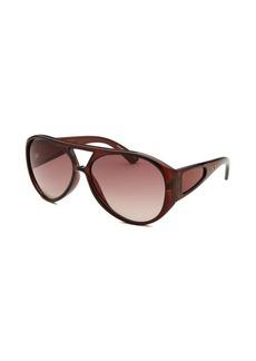 Tod's Women's Aviator Dark Brown Sunglasses