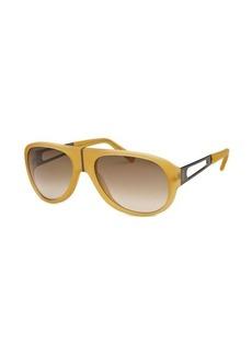 Tod's Women's Aviator Dark Yellow Sunglasses